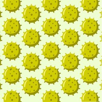 Virus pattern background social media post vector illustration