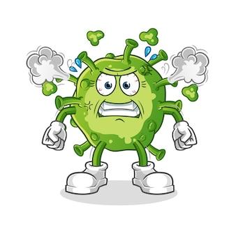 Вирус очень злой талисман. мультфильм