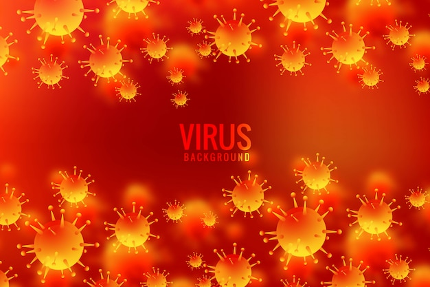 Viruses and bacteria for allergy germs background