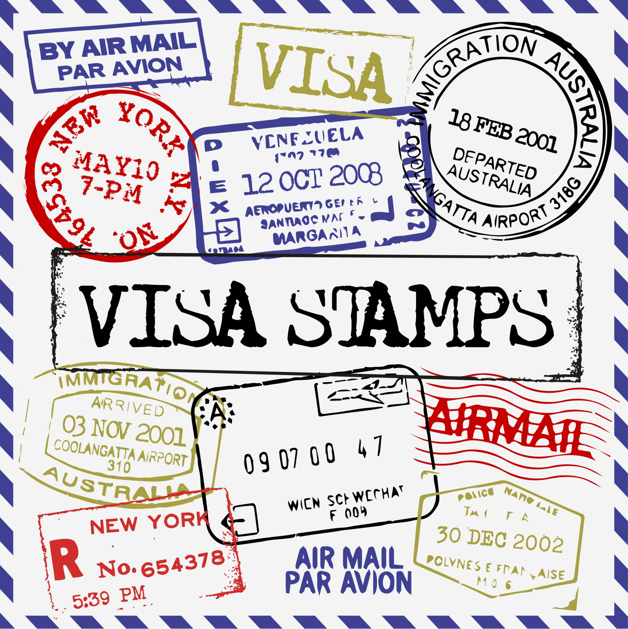 Visa stamps collection