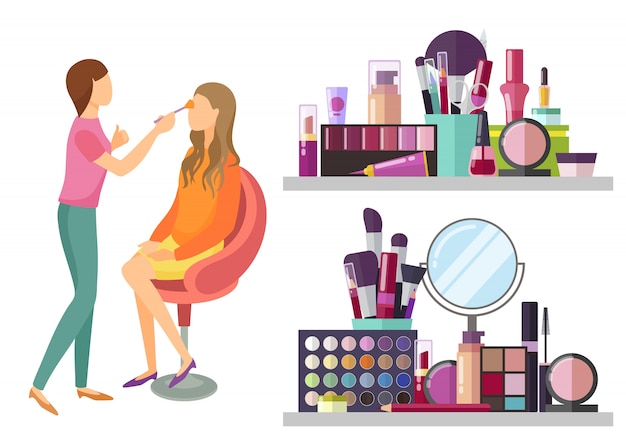 Visage makeup visagisteプロのイラスト