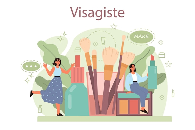 Visagiste concept. beauty center service concept.