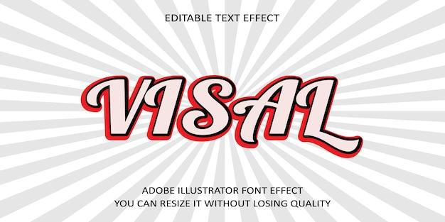 Visal text font effect