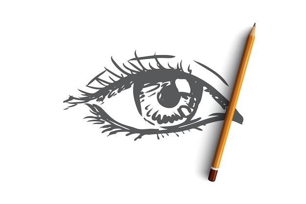 Vision eye look see eyeball human eye look