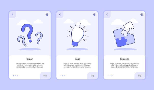 Vision goal strategy onboarding screen