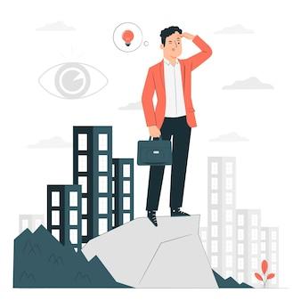 Illustrazione del concetto di dichiarazione di visione