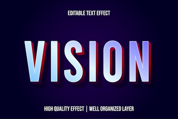 Vision современный стиль текстового эффекта