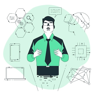 Visionary technologyconcept illustration