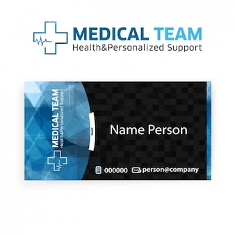 Visit card of medical team