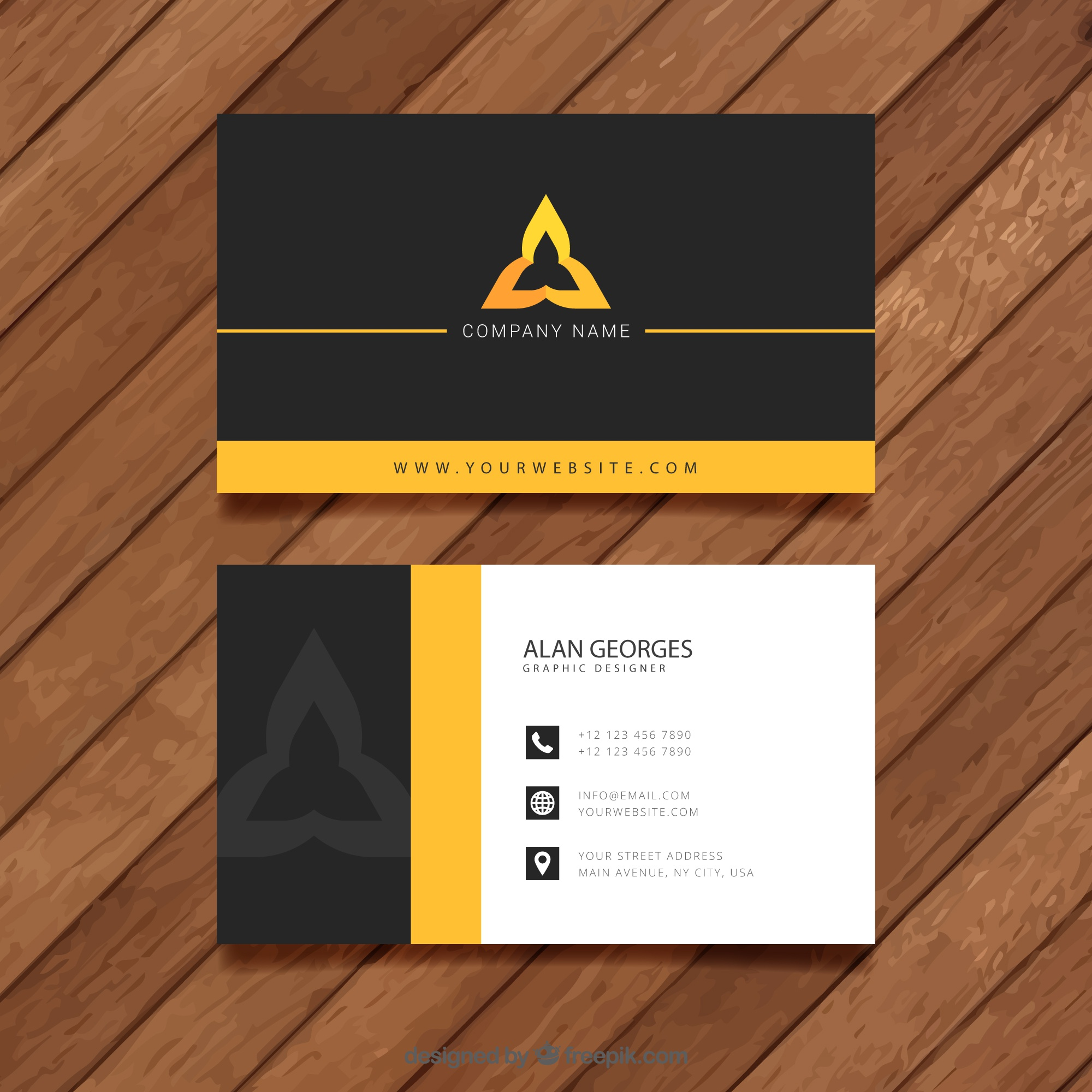 Visit card template