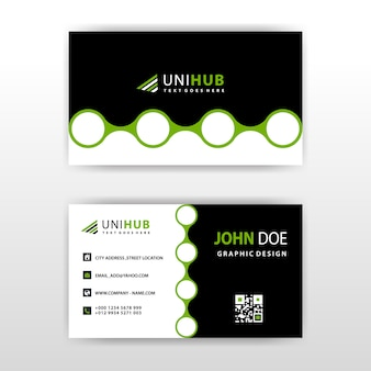 Visit card with abstract circular shape
