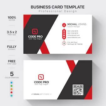 Visit cards with color variation