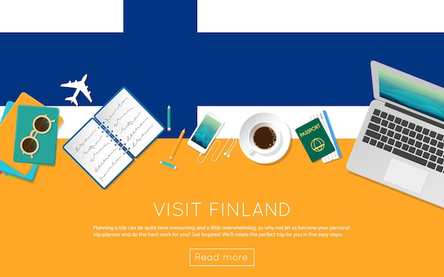 Visit finland concept for your web banner