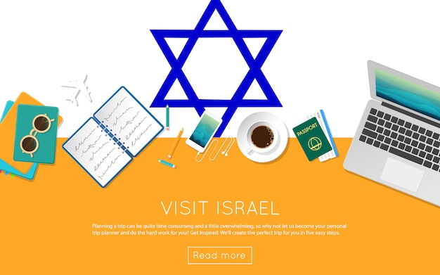Visit israel concept for your web banner