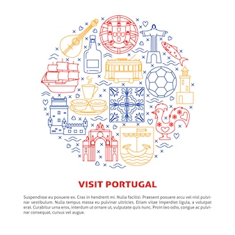 Visit portugal round composition of elements