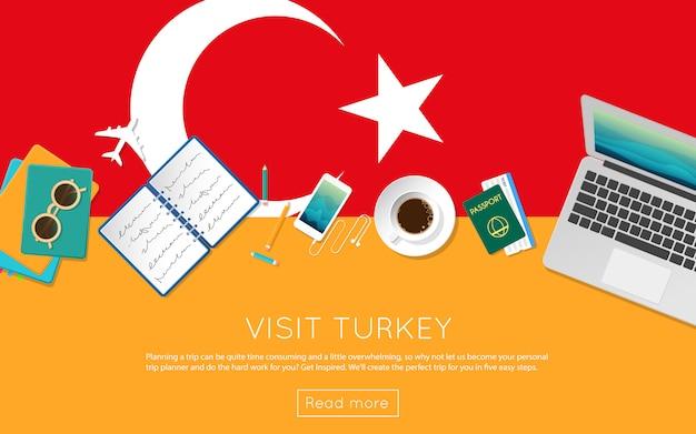 Visit turkey concept for your web banner