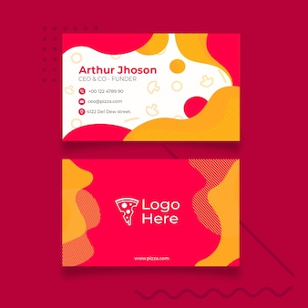 Visiting card template for pizza restaurant