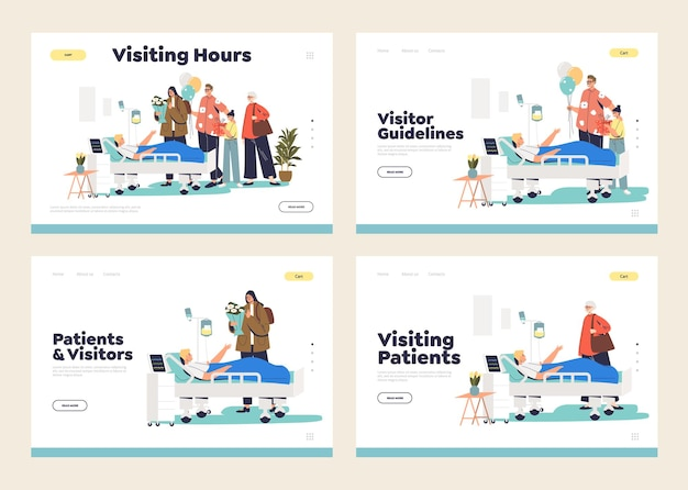 Visiting patient in hospital concept