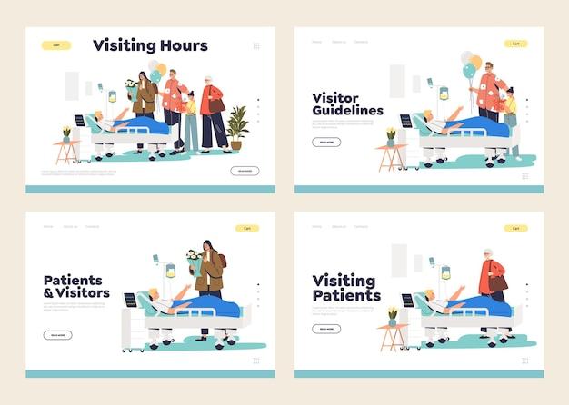 Посещение пациента в больнице концепции