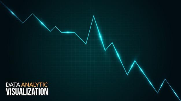 Visual analysis presentation background with blue light