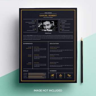 Visual cv resume template