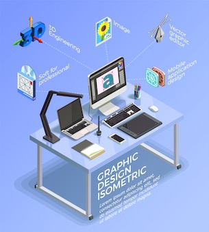 Visual design infographic concept