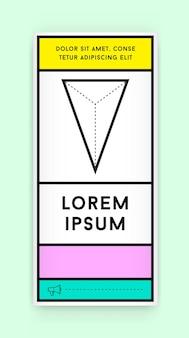 架空の名前とテキストで新鮮なオールドスクールカラーを使用したレトロなスタイルのトレンディな新しいファットラインスタイルの幾何学的デザインの視覚的アイデンティティ