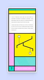 Визуальная идентичность в новом модном геометрическом стиле в стиле толстых линий с вымышленными именами и текстом