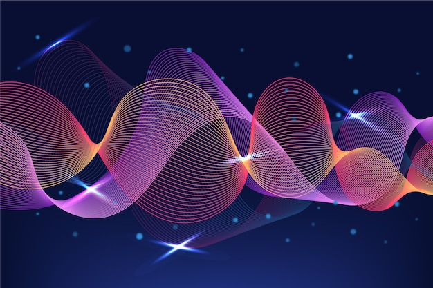 Visual of sounds waves equalizer background