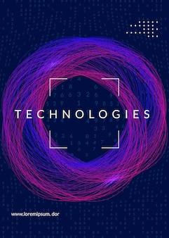 視覚化の背景。ビッグデータ、人工知能、ディープラーニング、量子コンピューティングのためのテクノロジー。業界コンセプトのデザインテンプレート。ベクトルの視覚化の背景。