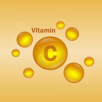 비타민 a 골드 드롭 아이콘 피부용 비타민 c 천연 에센스