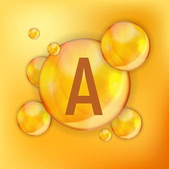 비타민 a 아이콘 산화 방지제. 삽화