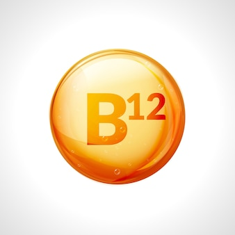 비타민 b12 금 알약. b 그룹, cyanocobalamin, hydroxocobalamin 약과 비타민 복합체.