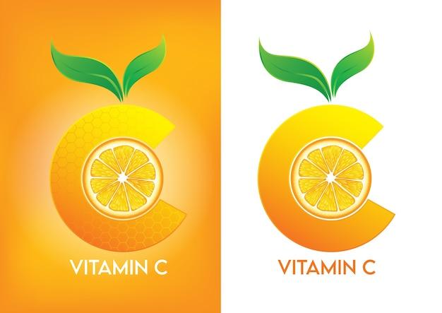 피부 미용 용 비타민 c 화장품 프로모션 광고 디자인.