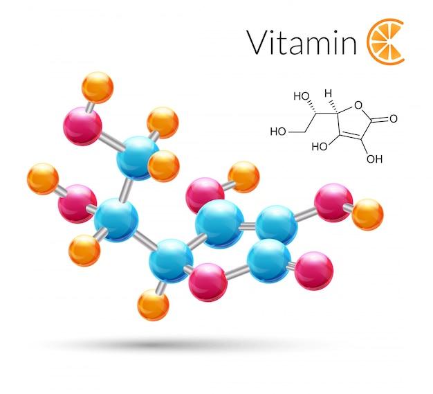 Vitamin c molecule
