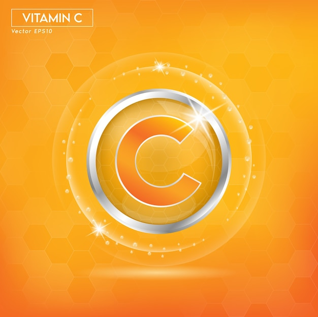 Vitamin c for skin beauty cosmetic promo ads.