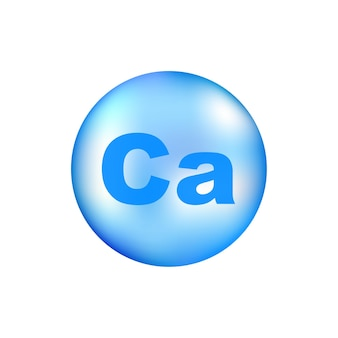 Vitamin ca with realistic drop on gray