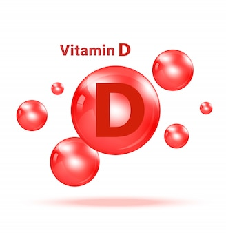 Vitamin d graphic medicine bubble on white background illustration. health care and medical concept design.