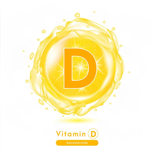Vitamin d medicine capsule orange substance anti aging beauty enhancement concept