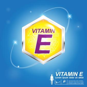 ビタミンeのロゴの概念
