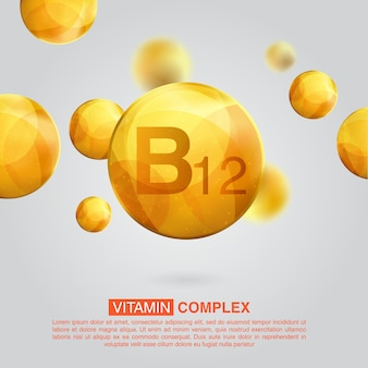 Vitamin gold icon. retinol vitamin drop pill capsule
