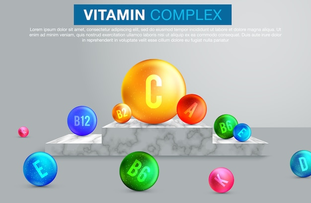 Vitamin and mineral complex banner