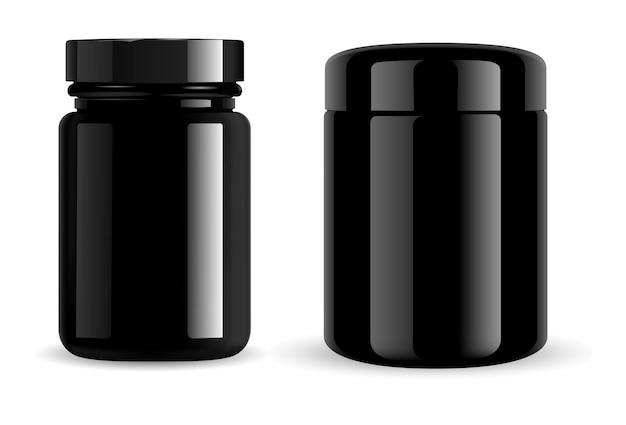 Витаминная банка для таблеток глянцевое стекло