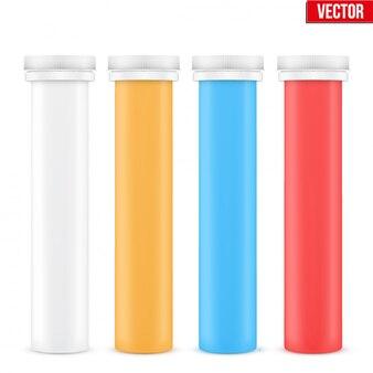 ビタミンプラスチックボトルコンテナー。