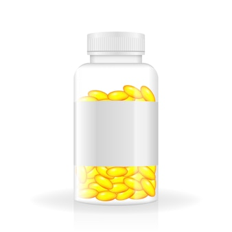 Vitamin realistic bottle in 3d style spray bottle icon white background isolated 3d vector