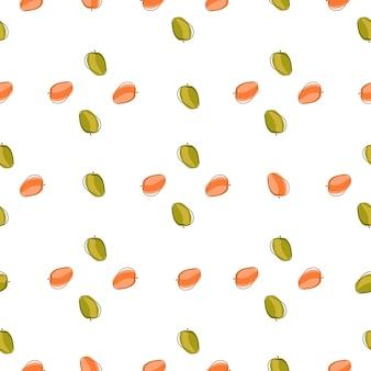 핑크와 그린 컬러 살구 요소와 비타민 원활한 패턴