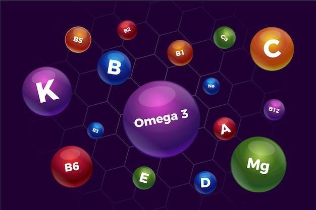 ビタミンとミネラルの複合体