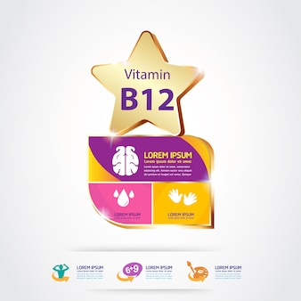 Vitamins for product for kids logo concept