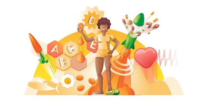 Vitamins smooth illustration