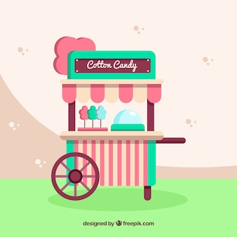 Vitnage cotton candy cart